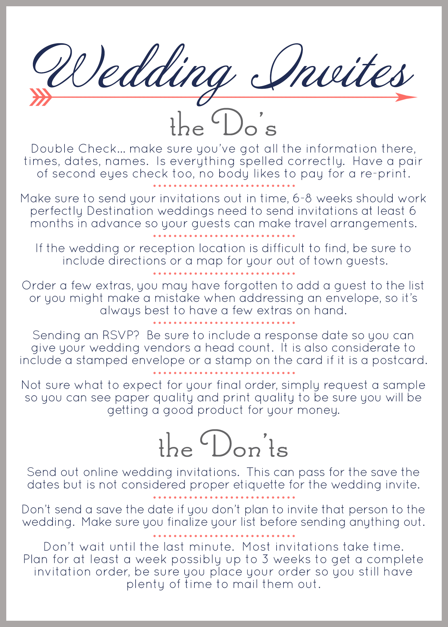 Wedding Invitation Tips Part 1 | Jeneze Designs