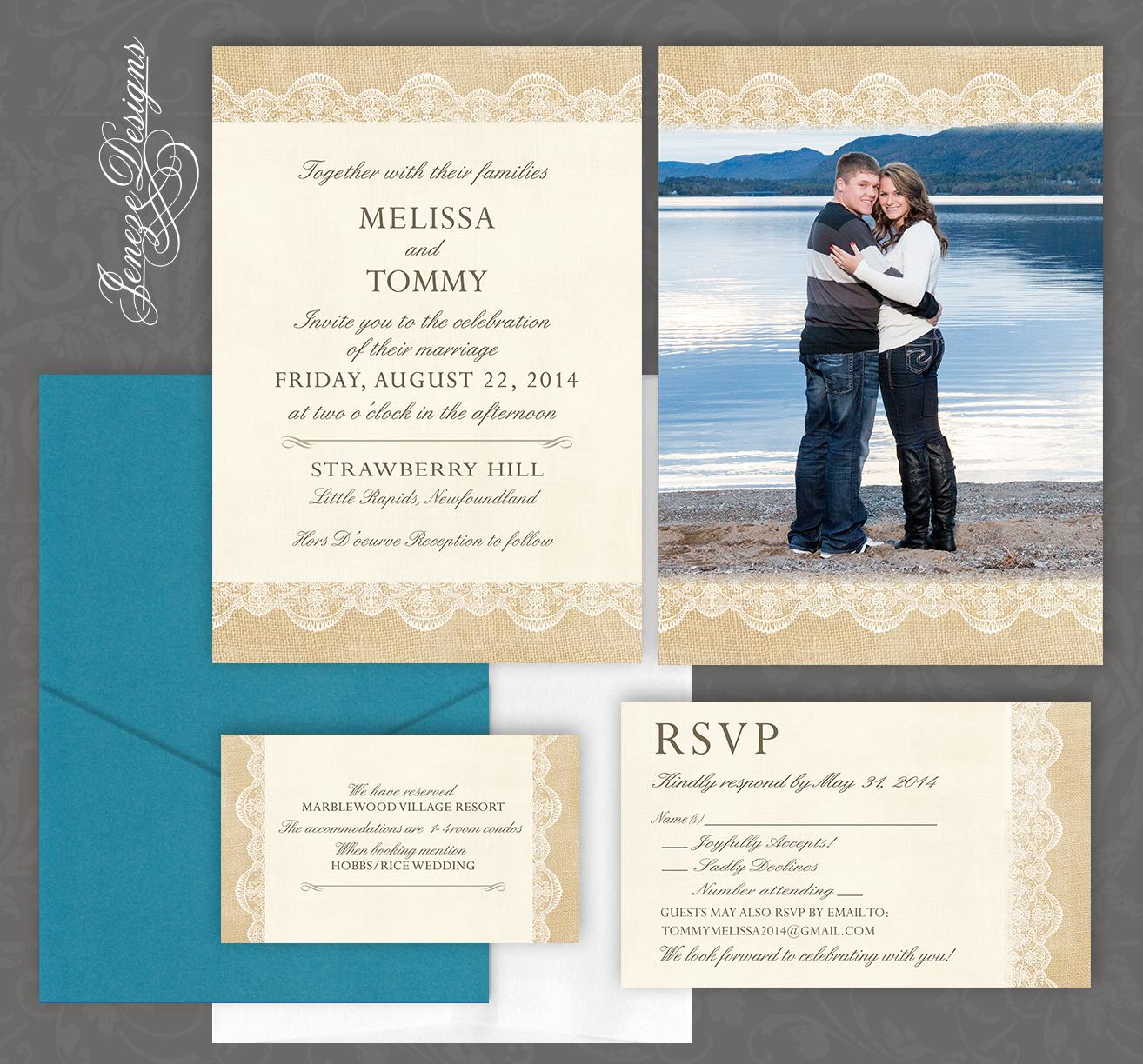 Single Panel Pocket Invites | Jeneze Designs