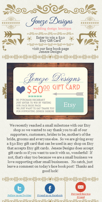 Enter to win a $50 Etsy GiftCard