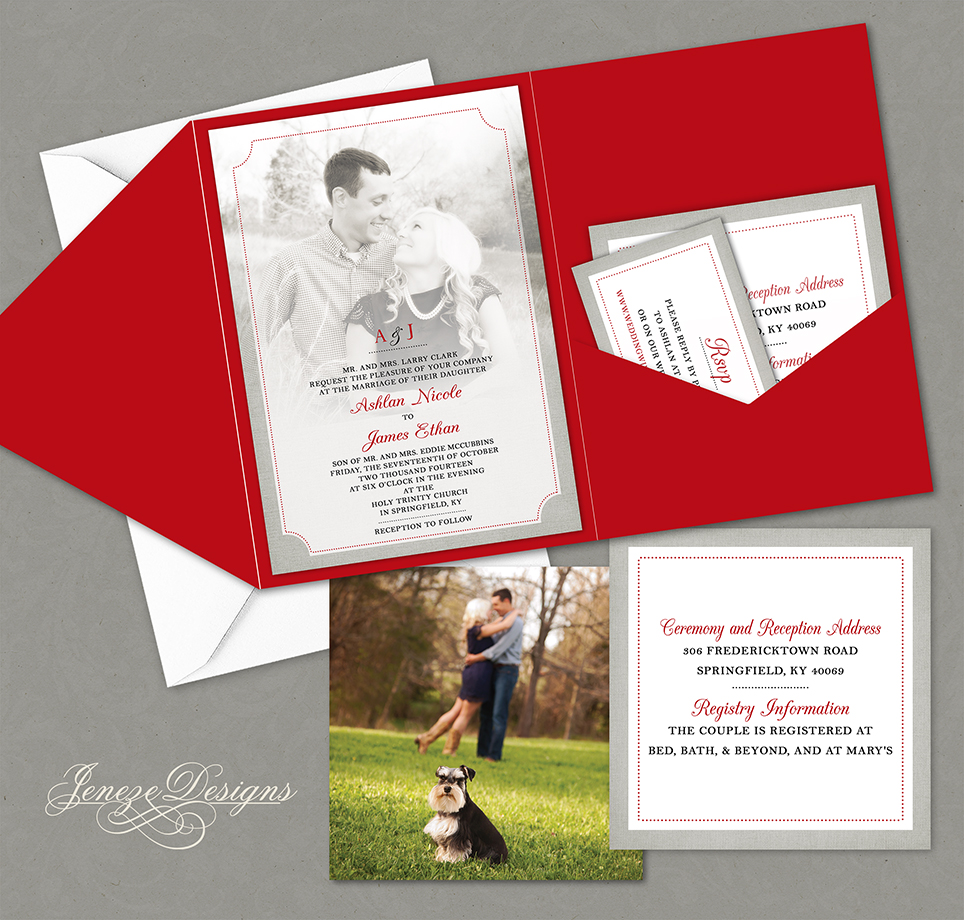 Wedding Invitation | Jeneze Designs