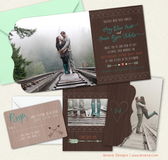Rustic Outdoor Camp Wedding Invitation