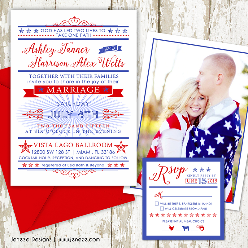 red white and blue wedding with free printables jeneze designs