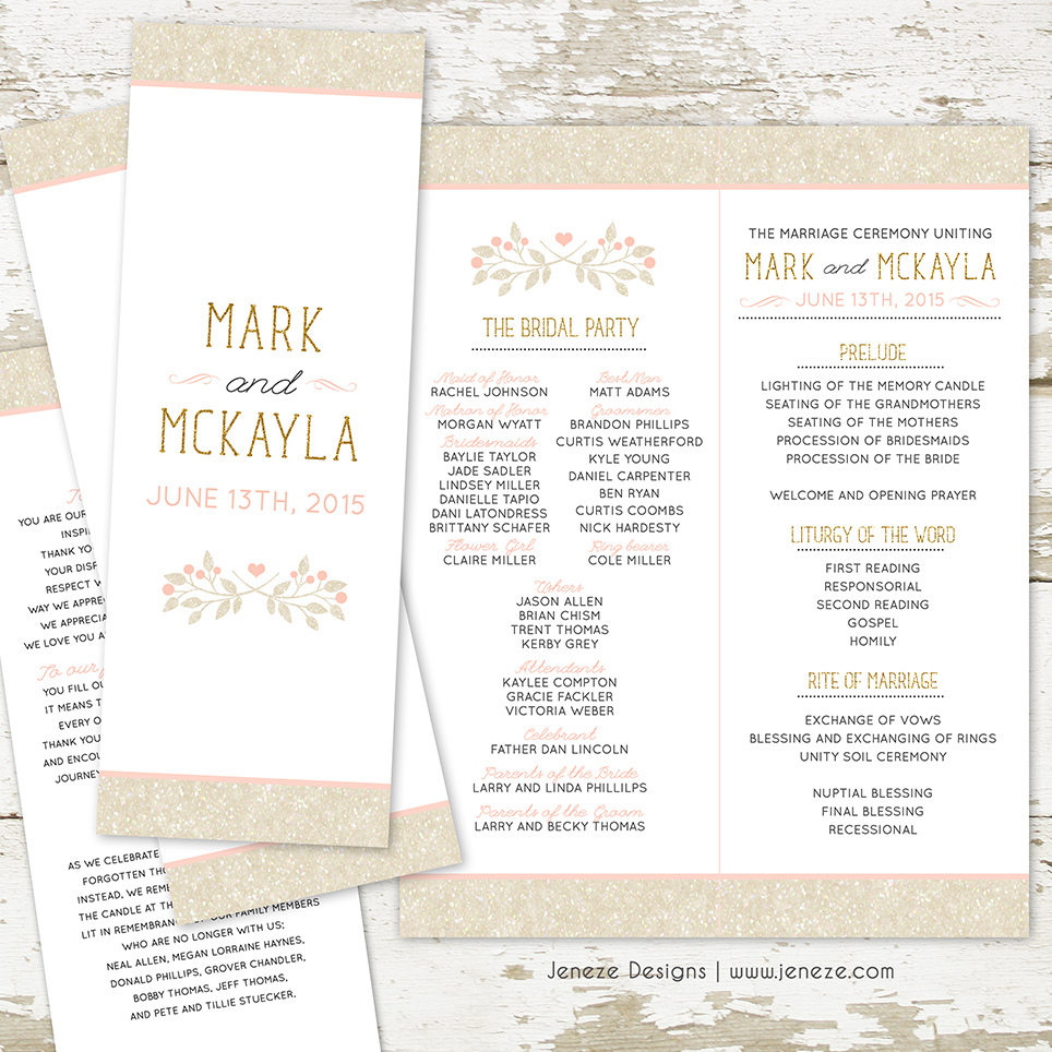 What to Put in Your Pocket Wedding Invitations | Jeneze Designs