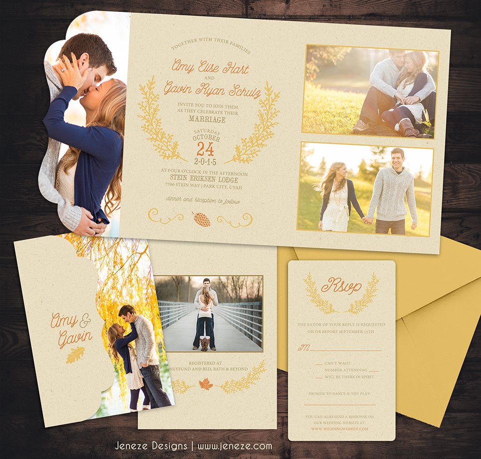 Photo Invitations | Jeneze Designs