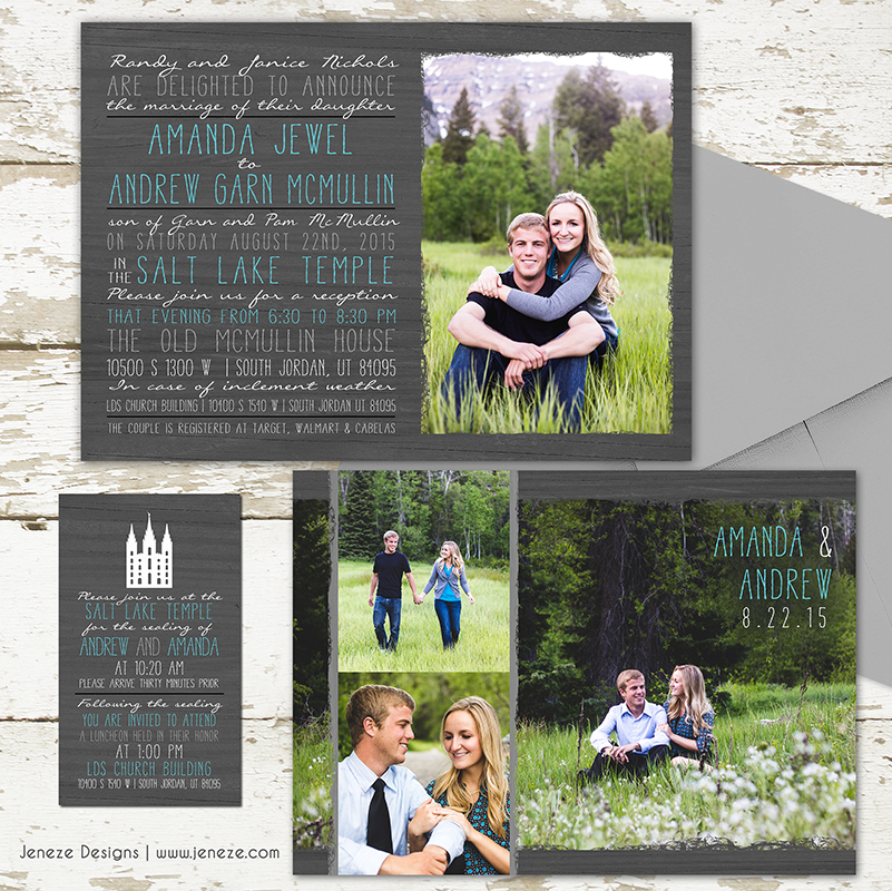 ca239 posted in lds wedding photo invitations