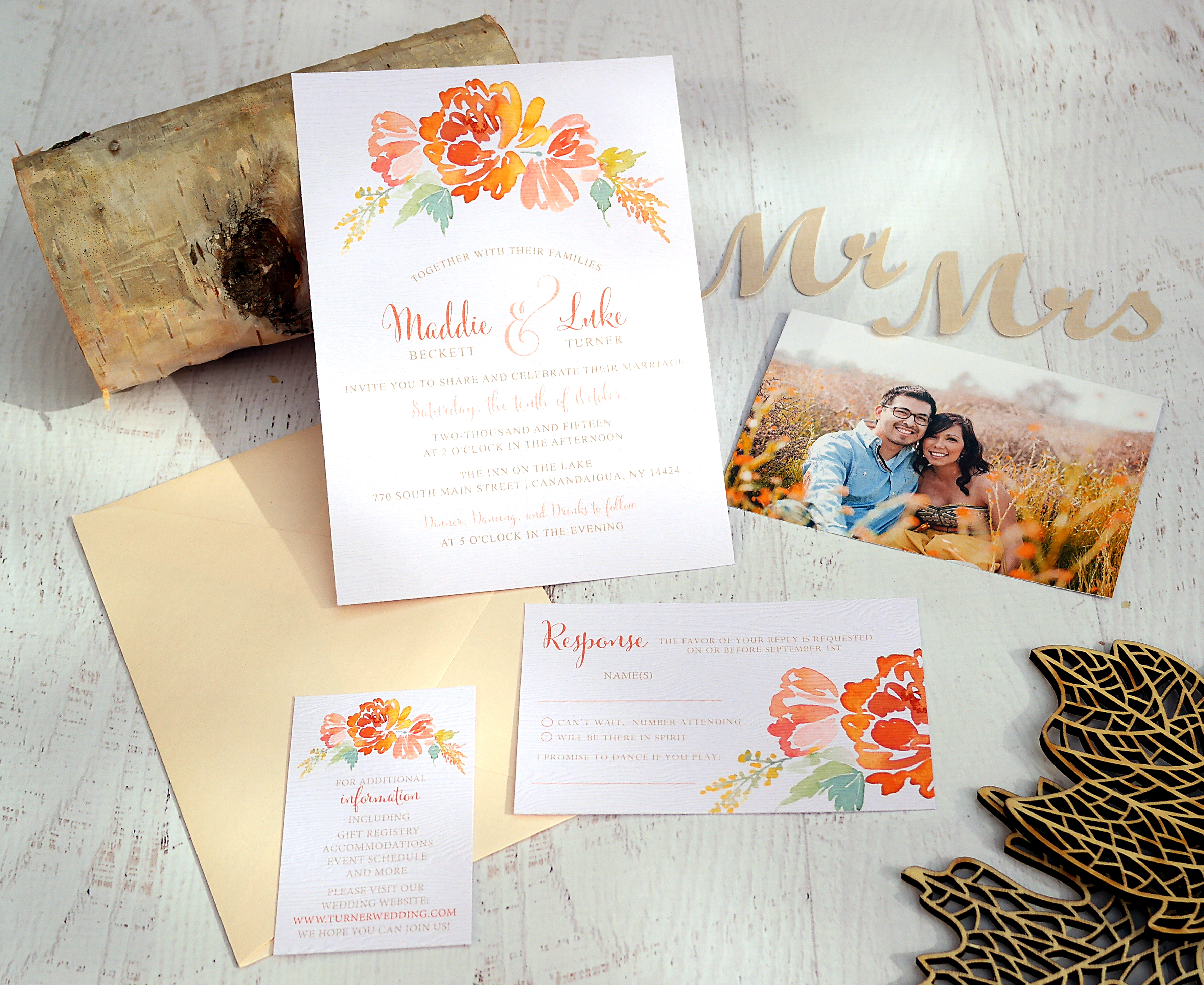 Fall Wedding Invitation Inspiration | Jeneze Designs