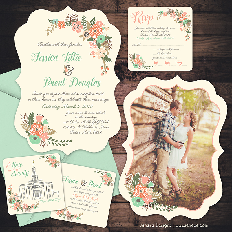 New Shaped Wedding Invitations are Here Jeneze Designs