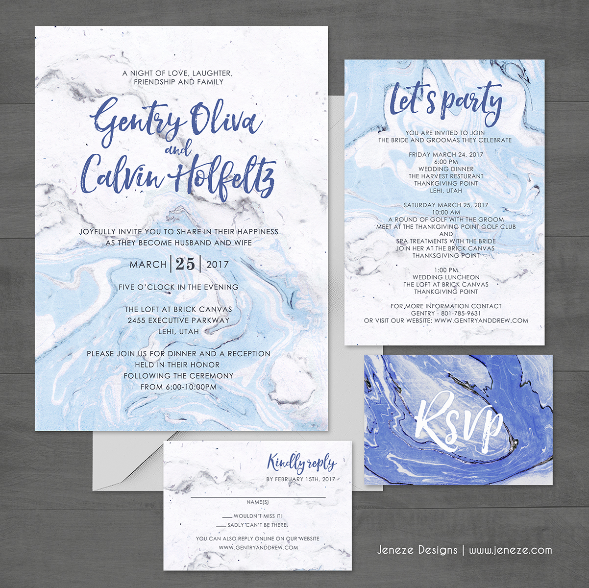 Pocket Wedding Invites