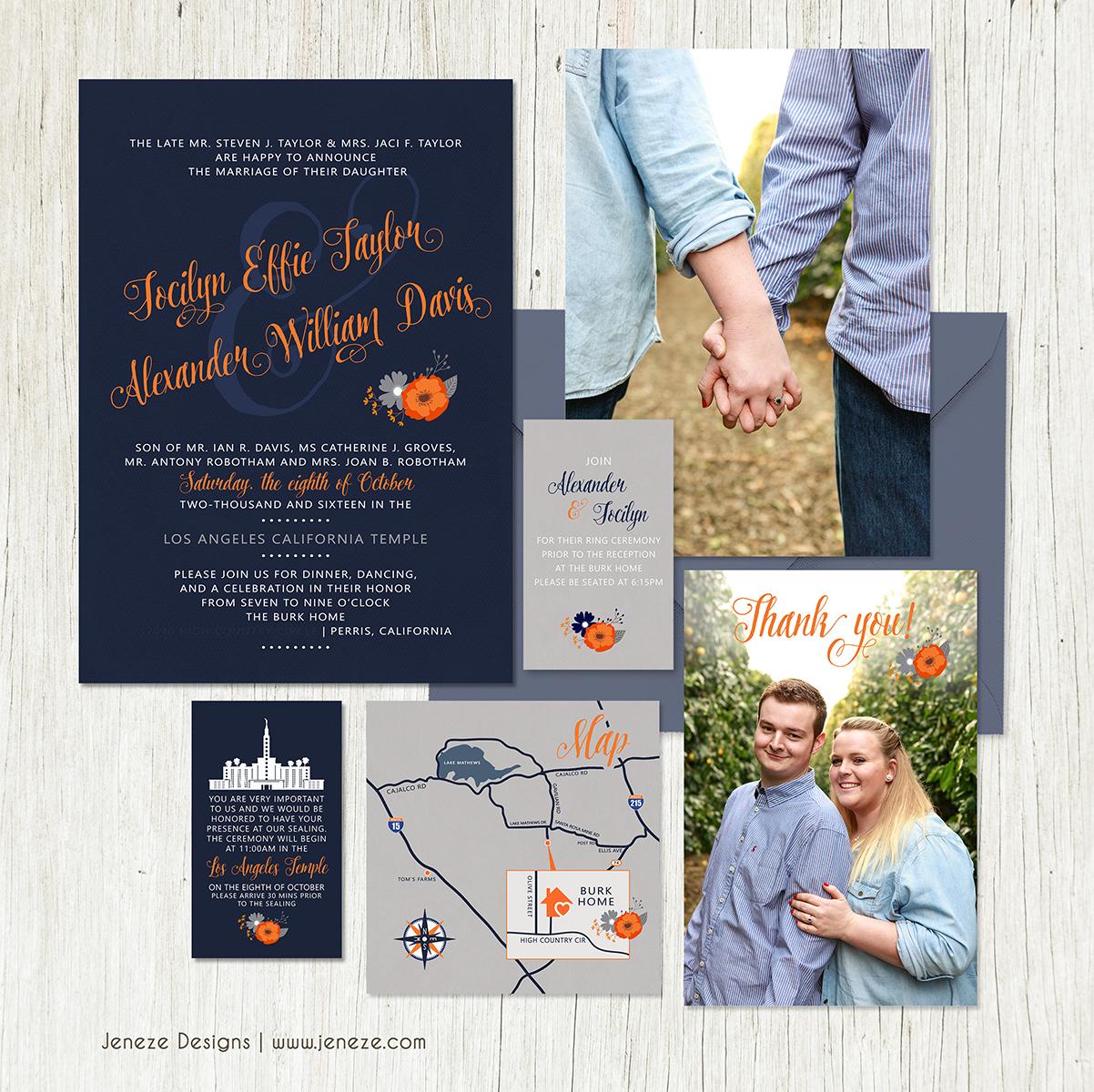 Wedding invitations jeneze designs ca289 monicamarmolfo Images