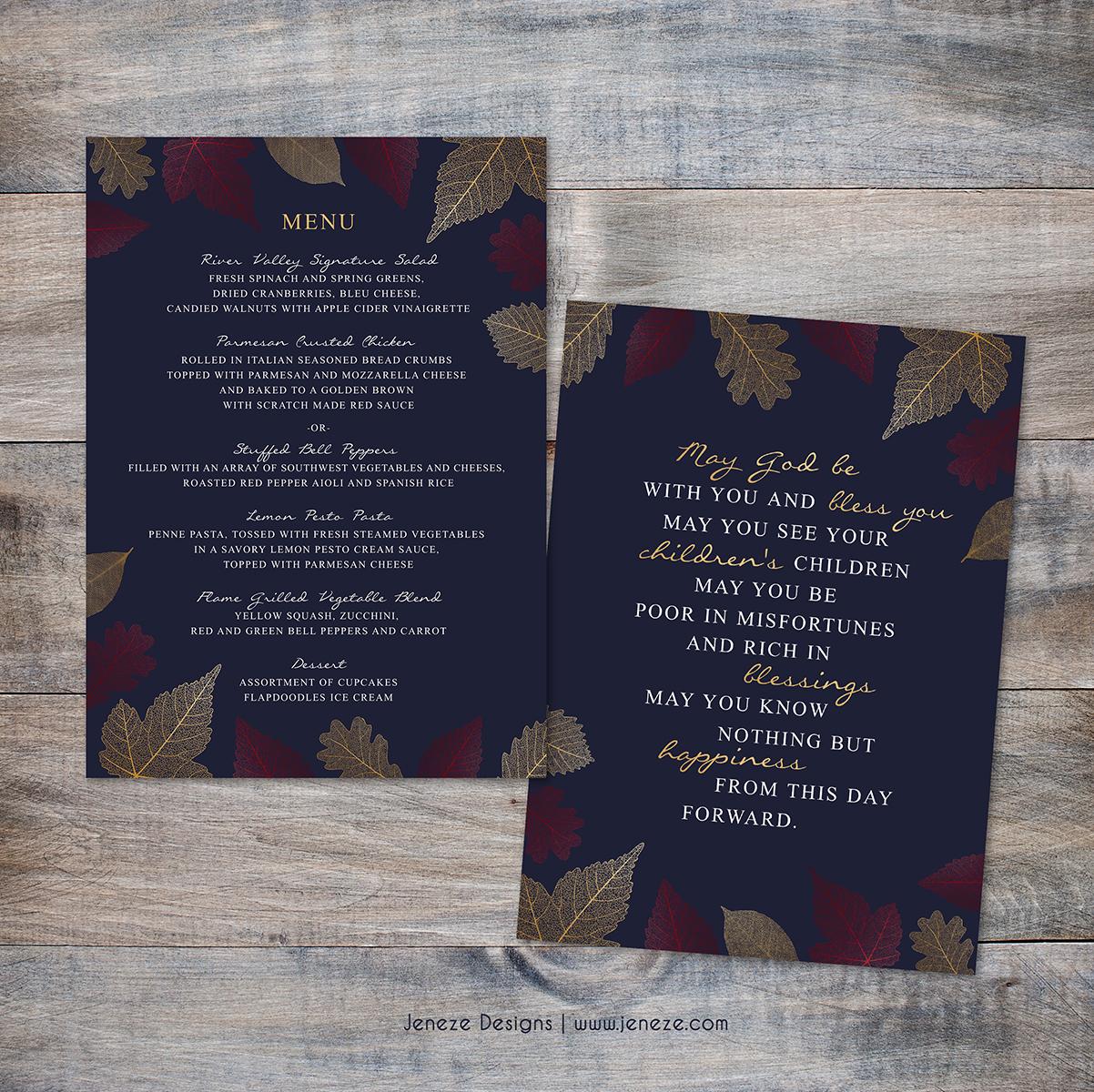 Folded Wedding Invitations Jeneze Designs